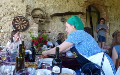 Emanuela at work at La Fonte for recent optional catering event